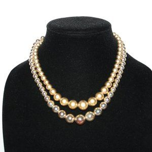 Vintage gold double layered necklace